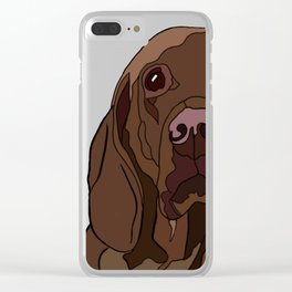 Ruby the Vizsla Clear iPhone Case