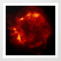 dragon ball Art Prints featuring Fire ball the red Side of Life - join the dragon by Ars Infinity - @ Roland Zulehner