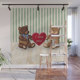 I Love You Beary Much! Wall Mural