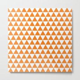 Orange Triangle Pattern Metal Print