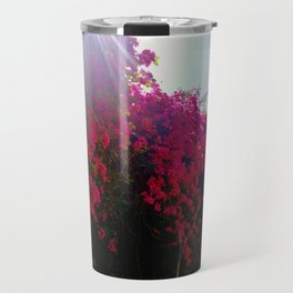 Bougainvillea Clouds Travel Mug
