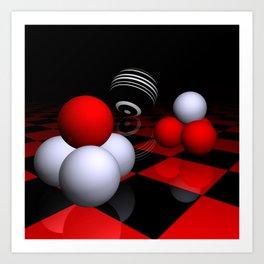 ball pyramids -2- Art Print