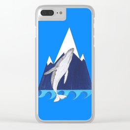 Whale mountain Clear iPhone Case