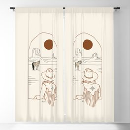 Lost Pony - Rustic Blackout Curtain