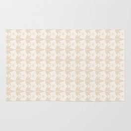 Two Leaves Pattern - color: Ivory Tower  Rug