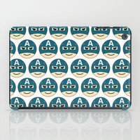 emoji iPad Cases featuring Captian A Emoji by Jozi