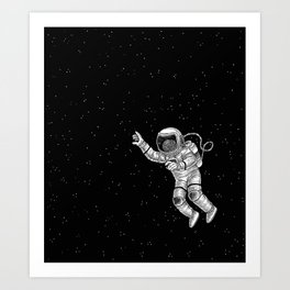 Astronaut in the outer space Art Print