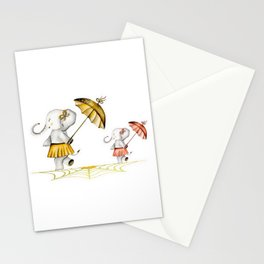 Cheerfull Elphants Stationery Cards