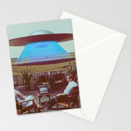 Alien Ship Stationery Cards