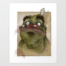 Ogre George Art Print