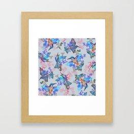 bee eaters pattern Framed Art Print
