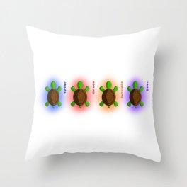 Four Baby Turtles Throw Pillow
