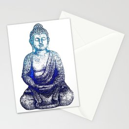 Buddha Blue Stationery Cards