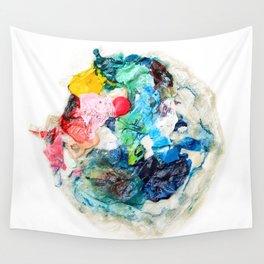 Rainbow Earth Paint Moon Love Wall Tapestry