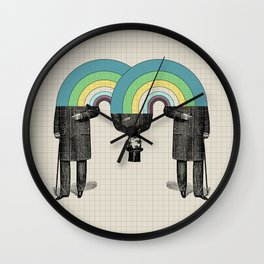 Occasionally Headless Wall Clock