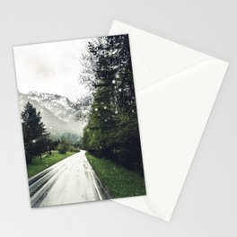 Down the Road - Mountains, Forest, Austria Stationery Cards