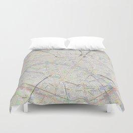 map of Paris – France, French,city of light,seine, parisien, parisian. Duvet Cover