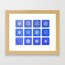 Snowflakes collection Framed Art Print