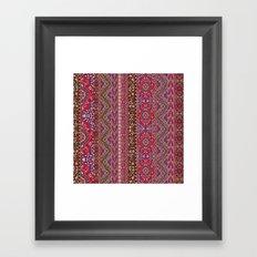 Farah Stripe Red Framed Art Print