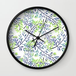 Delicate leaves . 2 Wall Clock