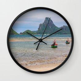 Three Boats Thailand Wall Clock