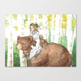 Bear Maiden Canvas Print