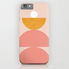 Abstraction_Mountains_Balance_Minimalism_001 iPhone Case