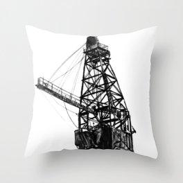Coal Derrick Throw Pillow