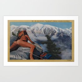 Old Baldy Art Print