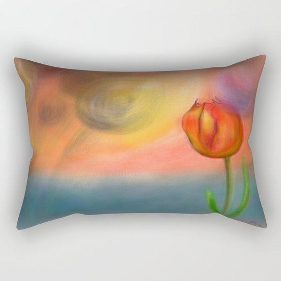 Echos of Lillies Rectangular Pillow