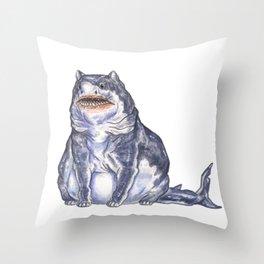 Great White Shark Cat :: Series 1 Throw Pillow