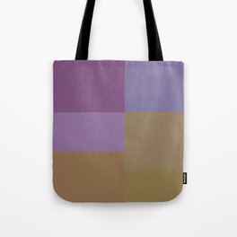 Purple and Gold Squares Tote Bag