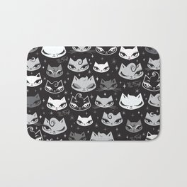 Rockabilly Cats with Pompadours Bath Mat