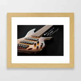 Music is Real Magic Framed Art Print