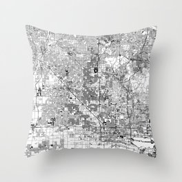 Phoenix White Map Throw Pillow