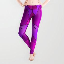 ABSTRACT CURVES #2 (Purples, Violets, Fuchsias & Magentas) Leggings