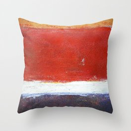 Mark Rothko Interpretation Acrylics On Paper Throw Pillow