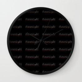moonlight- moon,night,nocturne,luna,romantic,Claro de luna. Wall Clock