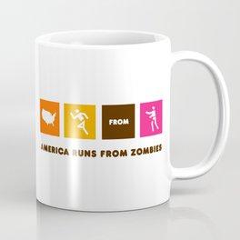 America Runs From Zombies Coffee Mug