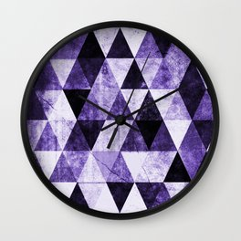 Abstract #975 Ultraviolet Wall Clock