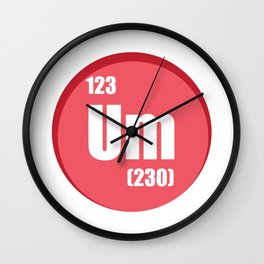 The element of confusion To chemistry Wall Clock