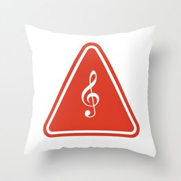 Road Sign - Music Throw Pillow