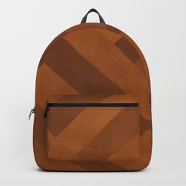Boho, Faux Suede, Geometric Art, Terracotta Backpack