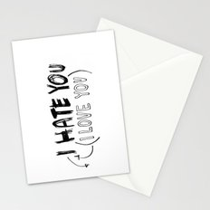 I HATE\LOVE YOU Stationery Cards