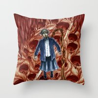 sandra dieckmann Throw Pillows featuring Sandra by Robert Elrod