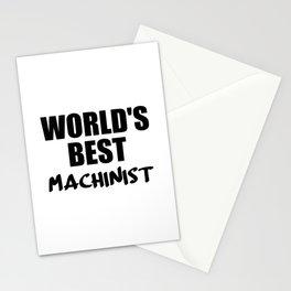 worlds best machinist Stationery Cards