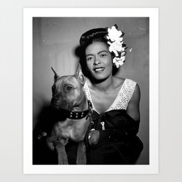 Billie Holiday : Lady Day & Her Mister Art Print