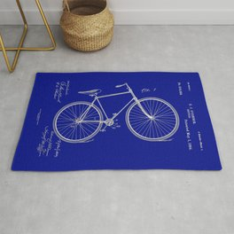 Vintage Bicycle Patent Blueprint Rug