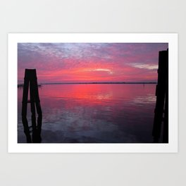 Caloosahatchee Sunset Art Print