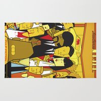 pulp Area & Throw Rugs featuring Pulp Fiction by Ale Giorgini